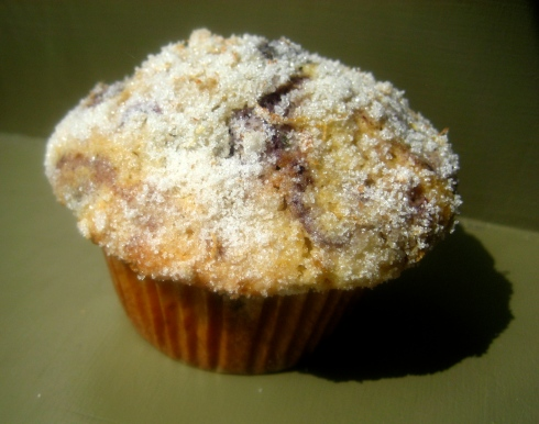 Lemon-Sugar Crusted Blueberry Muffins